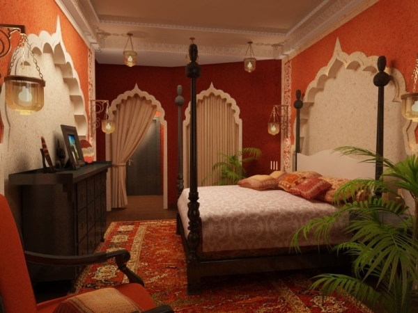 Bedroom in Indian style