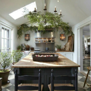 Kitchen Greenery Decor Ideas