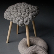 Knit Stools for Homey Decor by Claire-Anne O&#8217;Brien