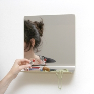 Bent Mirror Shelf by Anika Engelbrecht