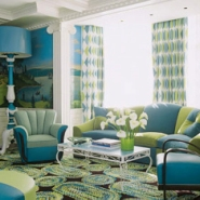 Blue And Green Interior Designs