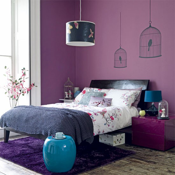 Blue and Purple Interior Designs