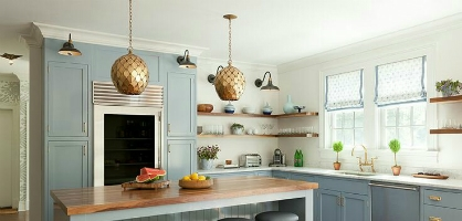 Sky Blue Kitchen Design Ideas