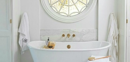 Use Molding In Bathroom For Boutique Hotel Look