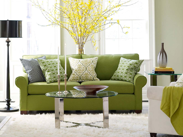Cool Green Living Room Design Ideas