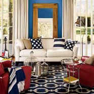 Designs In Red, White, Blue Color Scheme