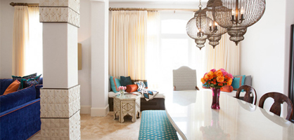 Dining Room With Moroccan Accents