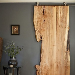 Driftwood sliding door