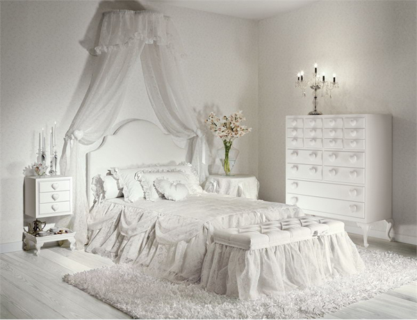 Elegant White Bedroom Interior Design