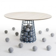 Gabion Table by Benjamin Hubert