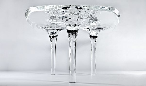 Glacial Table by Zaha Hadid