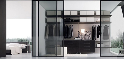 Glass Walk-In Closet Ideas
