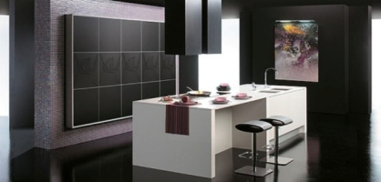 Hi-tech kitchen designs