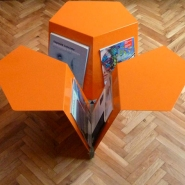 Ignatov Architects News Coffee Table/Magazine Rack