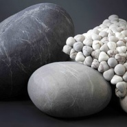 Interesting Design: Felt Pebble Cushions