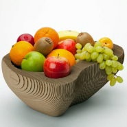 Intricate Cardboard Fruit Bowl