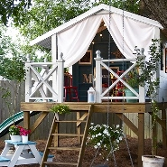 3 Charming Kid's Garden Playhouses