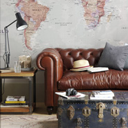 Map Wallpaper In Interior Design