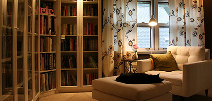 Small Apartments Library Ideas