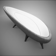 Mollusc Shaped Glab Day Bed by Nuno Teixeira