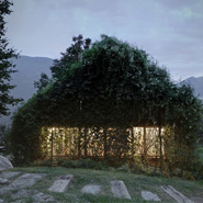 Old Garage Transformed Into Green Pavilion