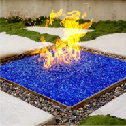 Outdoor Feature: Glass Fire Pit
