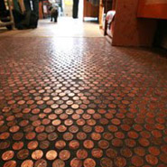 DIY Copper Penny Floor