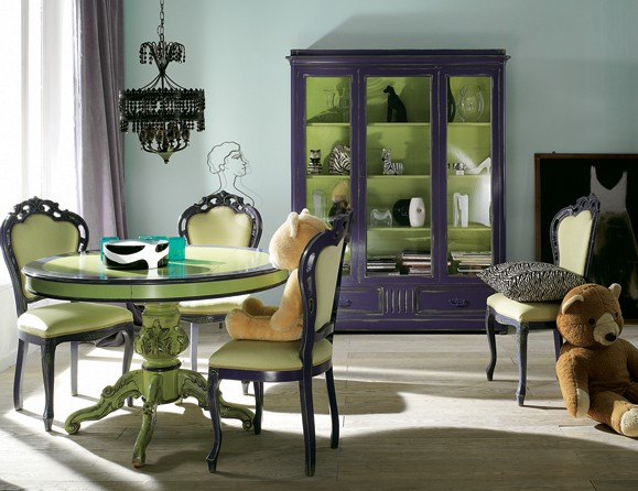 Purple And Green Interior Designs