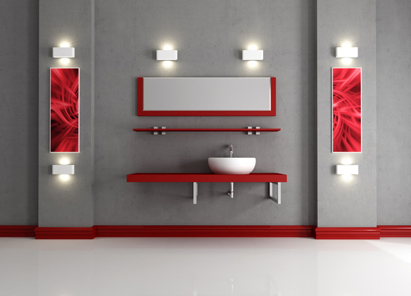 Red Bathroom Design Ideas | InteriorHolic.