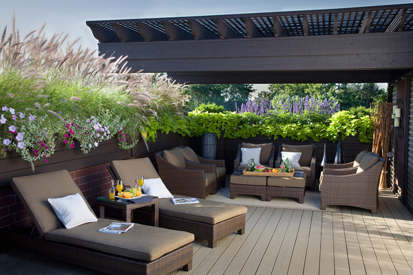 Rooftop terrace deck design ideas for Terrace decoration ideas