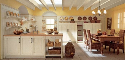 Rustic Themed Kitchen Design