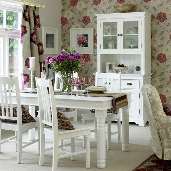 Shabby Chic Dining Room Design Ideas | InteriorHolic.