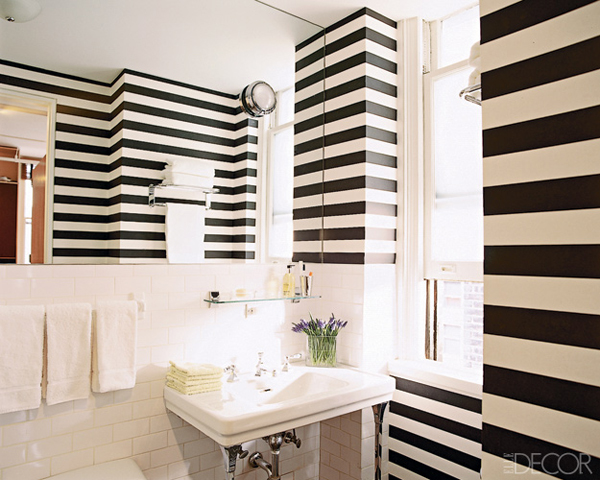 Striped Bathroom Design Ideas