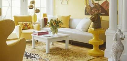 Sunny Yellow Living Room Design Ideas