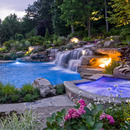 Water Features: Swimming Pool Waterfalls And Fountains