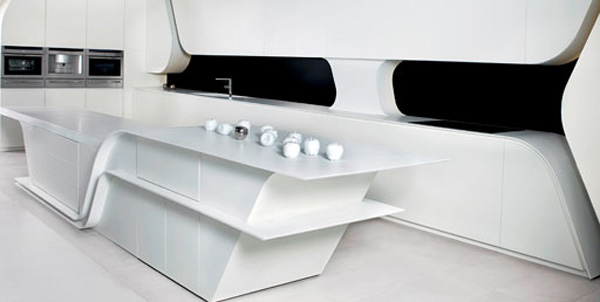 Wave Kitchen Design by A-cero