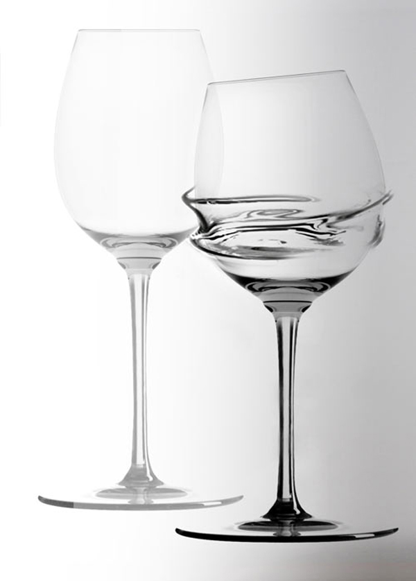 Wine Glasses With A Twist
