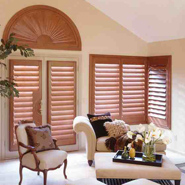 Wooden Venetian Blinds In Interior