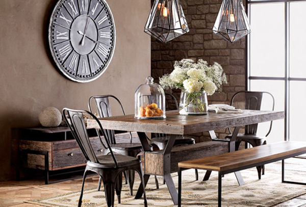 Industrial Chic Dining Room Design Ideas