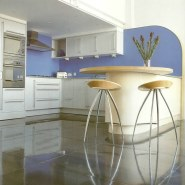 Metal Floors in Modern Interior