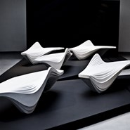 Futuristic Bench by Zaha Hadid